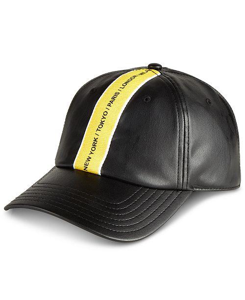 INC International Concepts I.N.C. Men s Faux Leather Baseball Cap ... 776a6ecd9255