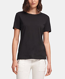 DKNY Bead-Embellished Crewneck Top, Created for Macy's