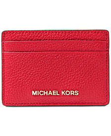 MICHAEL Michael Kors Pebble Leather Card Holder