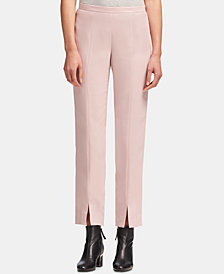 DKNY Front-Slit Straight-Leg Pants, Created for Macy's