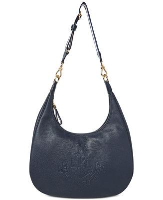 87e949c3d6 Lauren Ralph Lauren Huntley Leather Hobo & Reviews - Handbags & Accessories  - Macy's