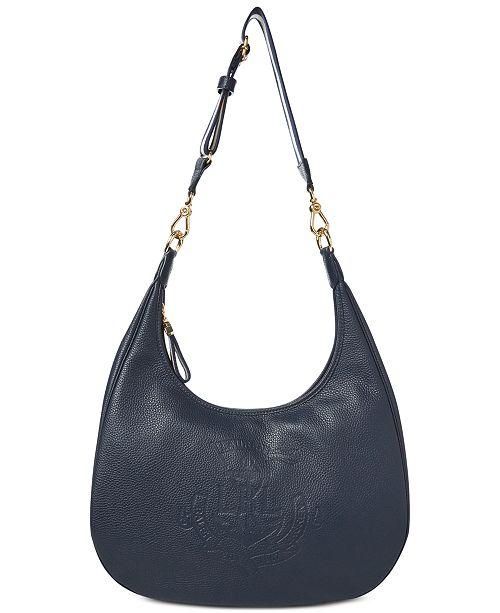 0e18dd41e Lauren Ralph Lauren Huntley Leather Hobo & Reviews - Handbags ...