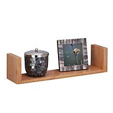 "Honey Can Do 15.75"" Bamboo Wall ledge Shelf"