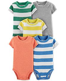 Carter's Baby Boys 5-Pk. Short-Sleeve Bodysuits