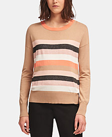 DKNY Colorblocked Striped Sweater, Created for Macy's