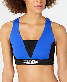 Calvin Klein Performance Colorblocked Crisscross Back Low-Impact Sports Bra