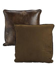 Faux Leather 27x27 Euro Sham