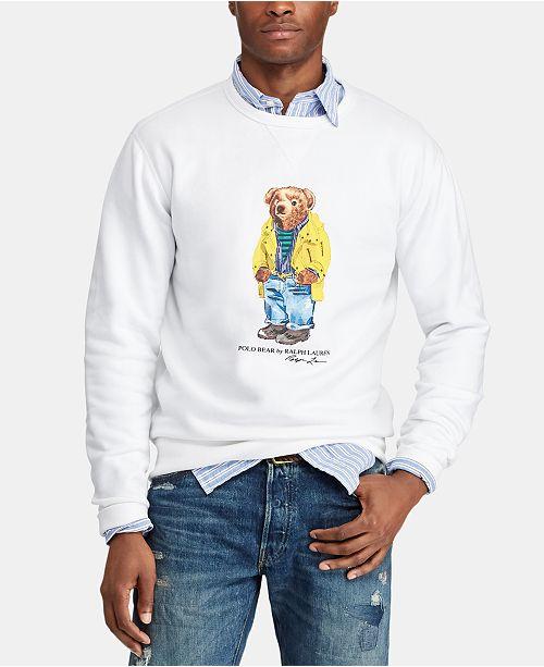 b3fada587 Polo Ralph Lauren Men s Polo Bear Fleece Sweatshirt