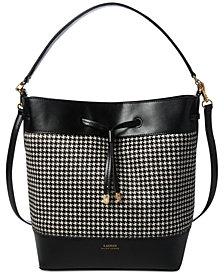 Lauren Ralph Lauren Debby Calf Hair Drawstring Handbag