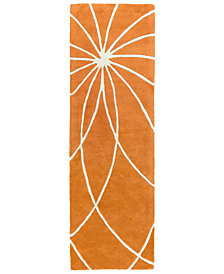 "Surya Forum FM-7175 Burnt Orange 2'6"" x 8' Runner Area Rug"