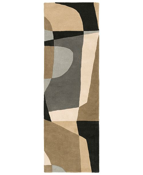 "Surya Forum FM-7196 Medium Gray 2'6"" x 8' Runner Area Rug"