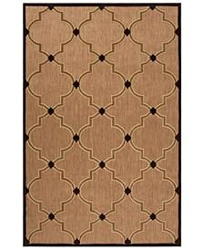 """Portera PRT-1048 Dark Brown 7'10"""" x 10'8"""" Area Rug, Indoor/Outdoor"""