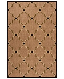 "Surya Portera PRT-1048 Dark Brown 5' x 7'6"" Area Rug, Indoor/Outdoor"