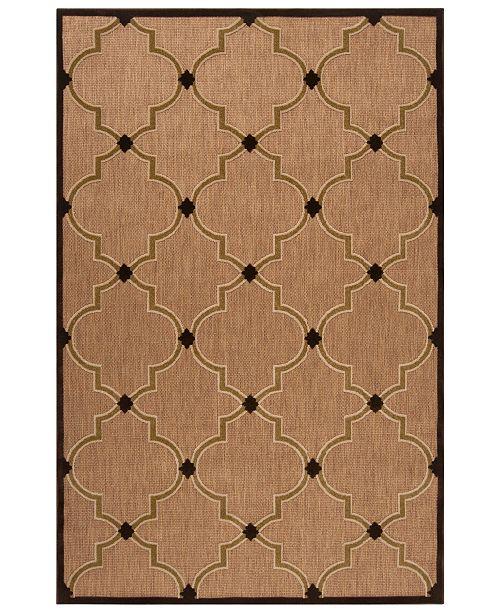 """Surya Portera PRT-1048 Dark Brown 5' x 7'6"""" Area Rug, Indoor/Outdoor"""