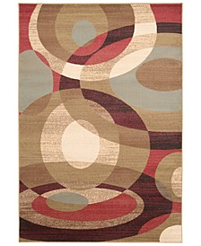 Riley RLY-5007 Dark Red 10' x 13' Area Rug