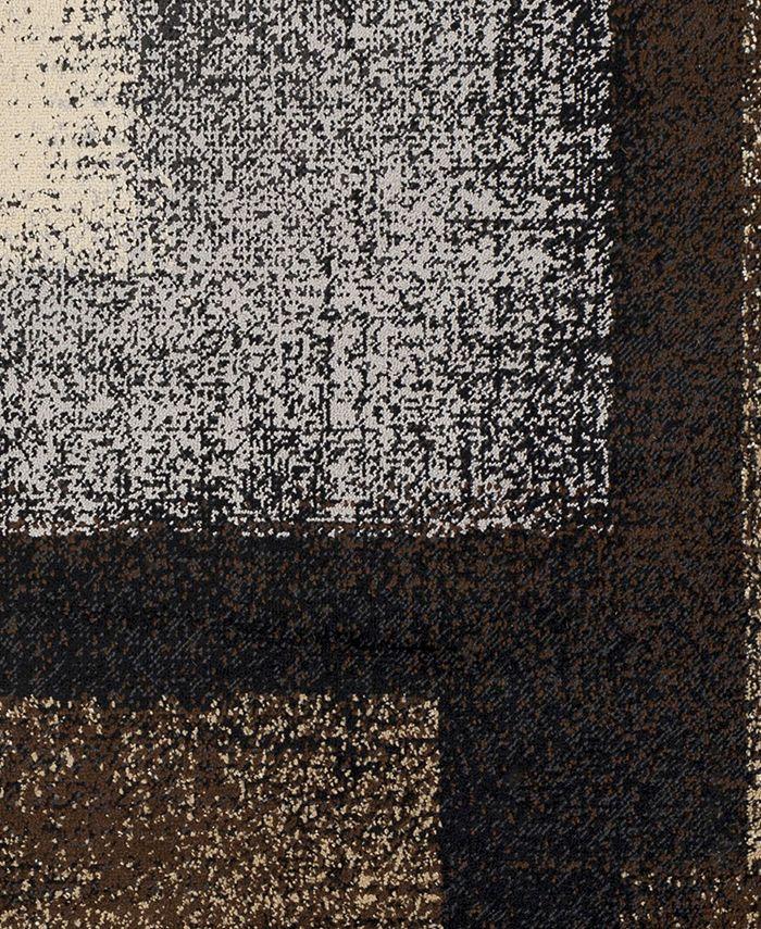 """Abbie & Allie Rugs - Paramount PAR-1086 Dark Brown 18"""" Square Swatch"""