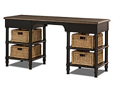 Seneca Desk With 2 Drawers and 4 Baskets