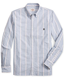 Brooks Brothers Men's Slim-Fit Windowpane Oxford Shirt
