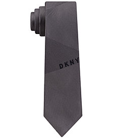 DKNY Men's Slim Logo Silk Tie