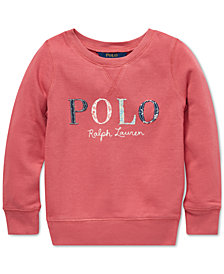 Polo Ralph Lauren Little Girls Logo Graphic Sweatshirt