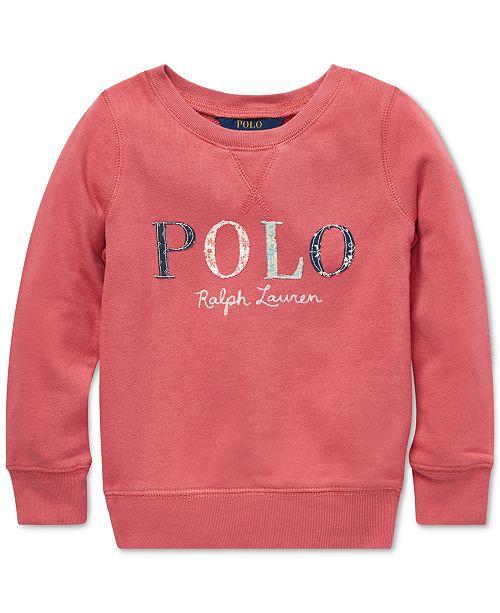 a607e657a Polo Ralph Lauren Little Girls Logo Graphic Sweatshirt   Reviews ...
