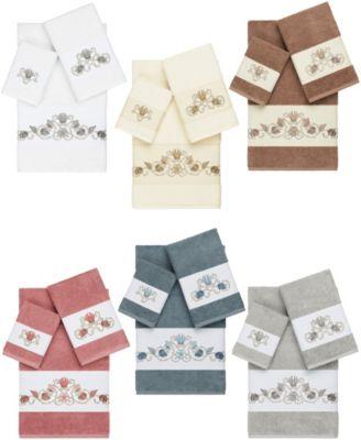 Bella 2-Pc. Embroidered Turkish Cotton Hand Towel Set