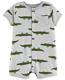 Carter's Baby Boys Alligator-Print Cotton Romper