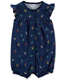 Carter's Baby Girls Cotton Floral-Print Romper