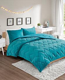Intelligent Design Jensen King Reversible Sherpa To Softspun Flannel 3-Piece Comforter Mini Set