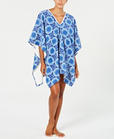 CLOSEOUT! Martha Stewart Collection Bohemian Rhapsody Beach Poncho, Created for Macy's