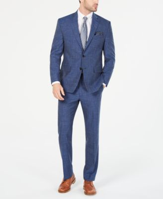 Men's Classic/Regular-Fit UltraFlex Stretch Indigo Textured Suit Jacket