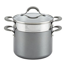 Circulon Elementum Hard-Anodized Nonstick 5 Qt Covered Multipot with Steamer Insert