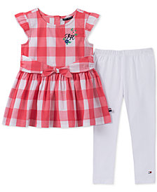 Tommy Hilfiger Little Girls 2-Pc. Gingham Tunic & Leggings Set