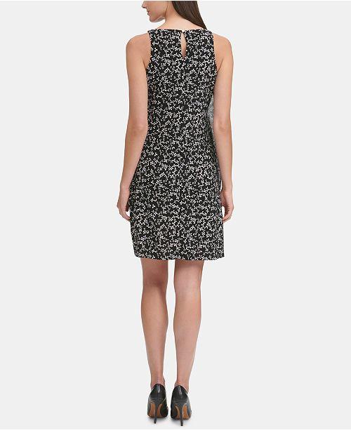 Macys Outlet Nj: Tommy Hilfiger Floral Chiffon Popover Jersey Dress