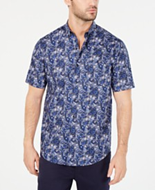 Tasso Elba Men's Secondo Floral-Print Shirt, Created for Macy's