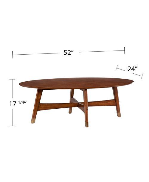 Cardewell Oval Midcentury Modern Coffee Table