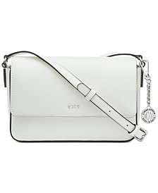 DKNY Saffiano Leather Bryant Flap Crossbody, Created for Macy's