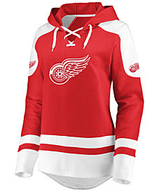 Majestic Women's Detroit Red Wings Centre Lace up Crew Sweatshirt
