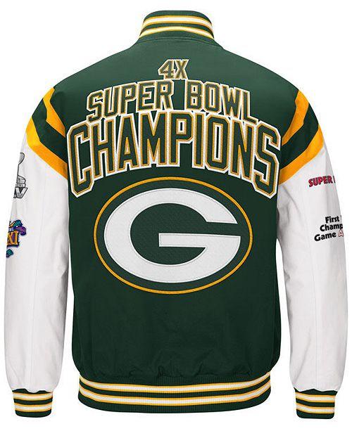 info for 179e9 ea8f3 Men's Green Bay Packers Home Team Varsity Jacket