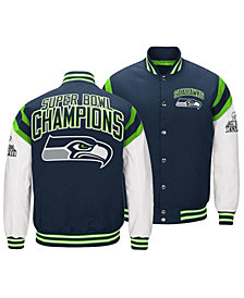 Authentic NFL Apparel Men's Seattle Seahawks Home Team Varsity Jacket