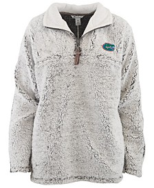 Pressbox Women's Florida Gators Sherpa Quarter-Zip Pullover