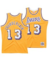 c32266065d6 Mitchell   Ness Men s Wilt Chamberlain Los Angeles Lakers Hardwood Classic  Swingman Jersey