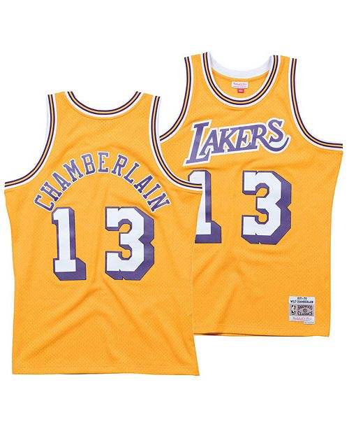 ... Swingman Jersey  Mitchell   Ness Men s Wilt Chamberlain Los Angeles  Lakers Hardwood Classic Swingman ... 3eb3eef68