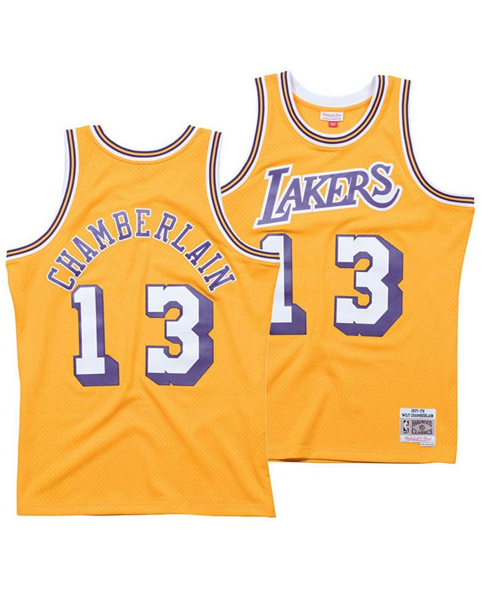 Mitchell & Ness Men's Wilt Chamberlain Los Angeles Lakers Hardwood ...
