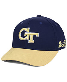 adidas Georgia-Tech Coaches Flex Stretch Fitted Cap 2018