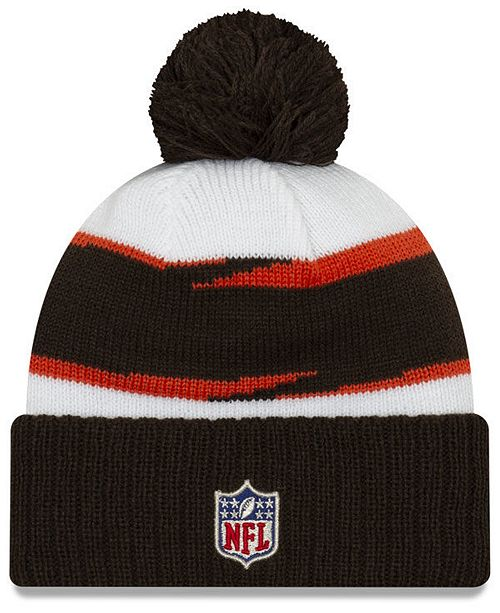 78e8e9989ad ... cleveland browns thanksgiving pom knit hat