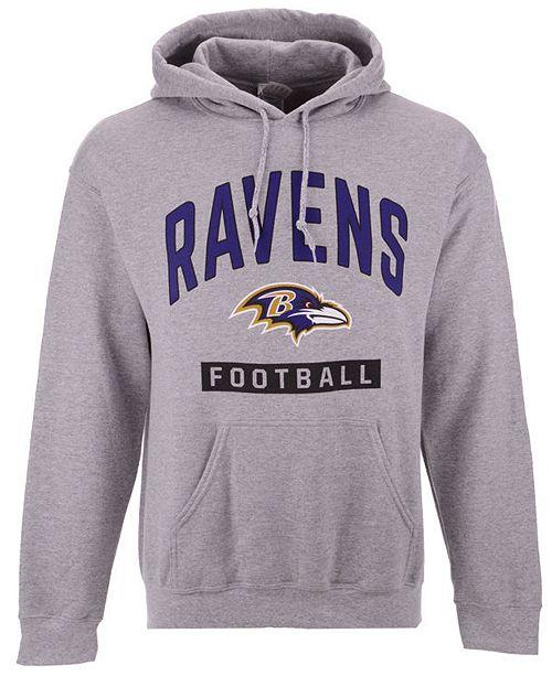 Authentic NFL Apparel Men's Baltimore Ravens Gym Class Hoodie
