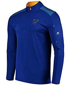 Majestic Men's St. Louis Blues Ultra Streak Half-Zip Pullover