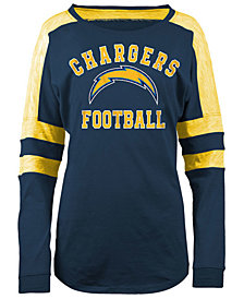 5th & Ocean Los Angeles Chargers NFL Women's Colorblock Long Sleeve T-Shirt