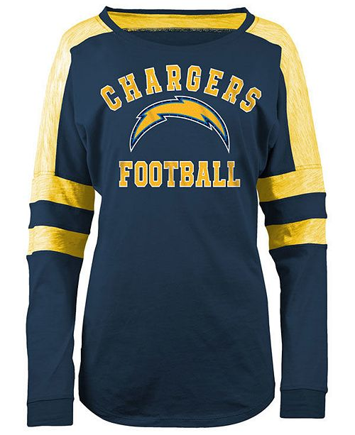865fc02a Los Angeles Chargers NFL Women's Colorblock Long Sleeve T-Shirt